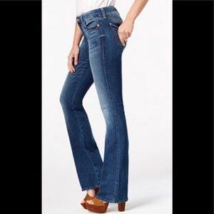 SEVEN7 Studio Flare Jeans in dark wash 5 pocket